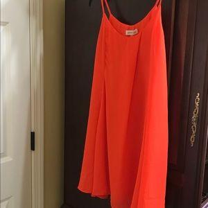 Sugar + Lips Orange colored Mini Dress